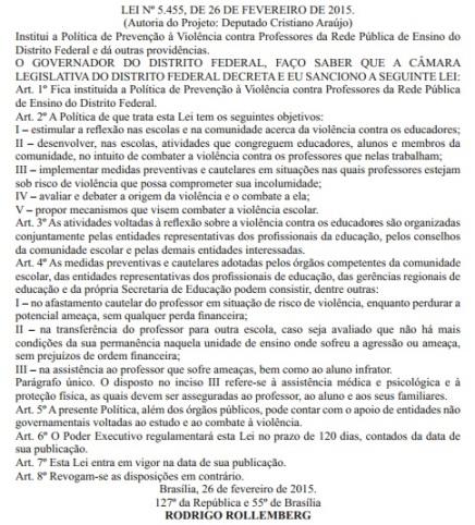 Lei contra violência ao professor