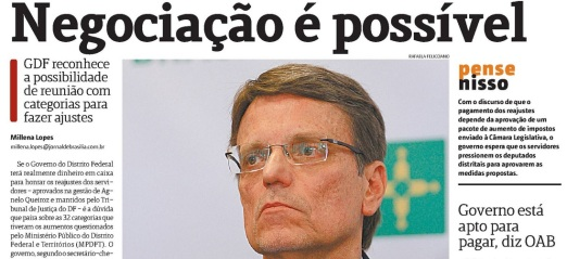 Jornal de Brasília GDF quer negociar