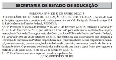 GT do Diário Eletrônico